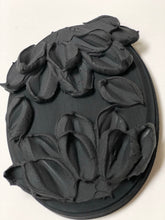 Double Black Flowers on Wood