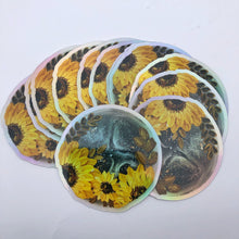 Holographic moon sticker
