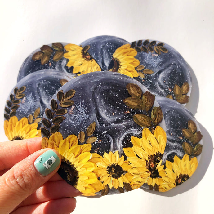 Moon and Sunflower Magnet