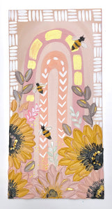 Pastel Pink Rainbow with Bees