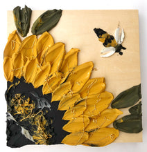 Sunflower and Bee on 100% wood (no fabric)