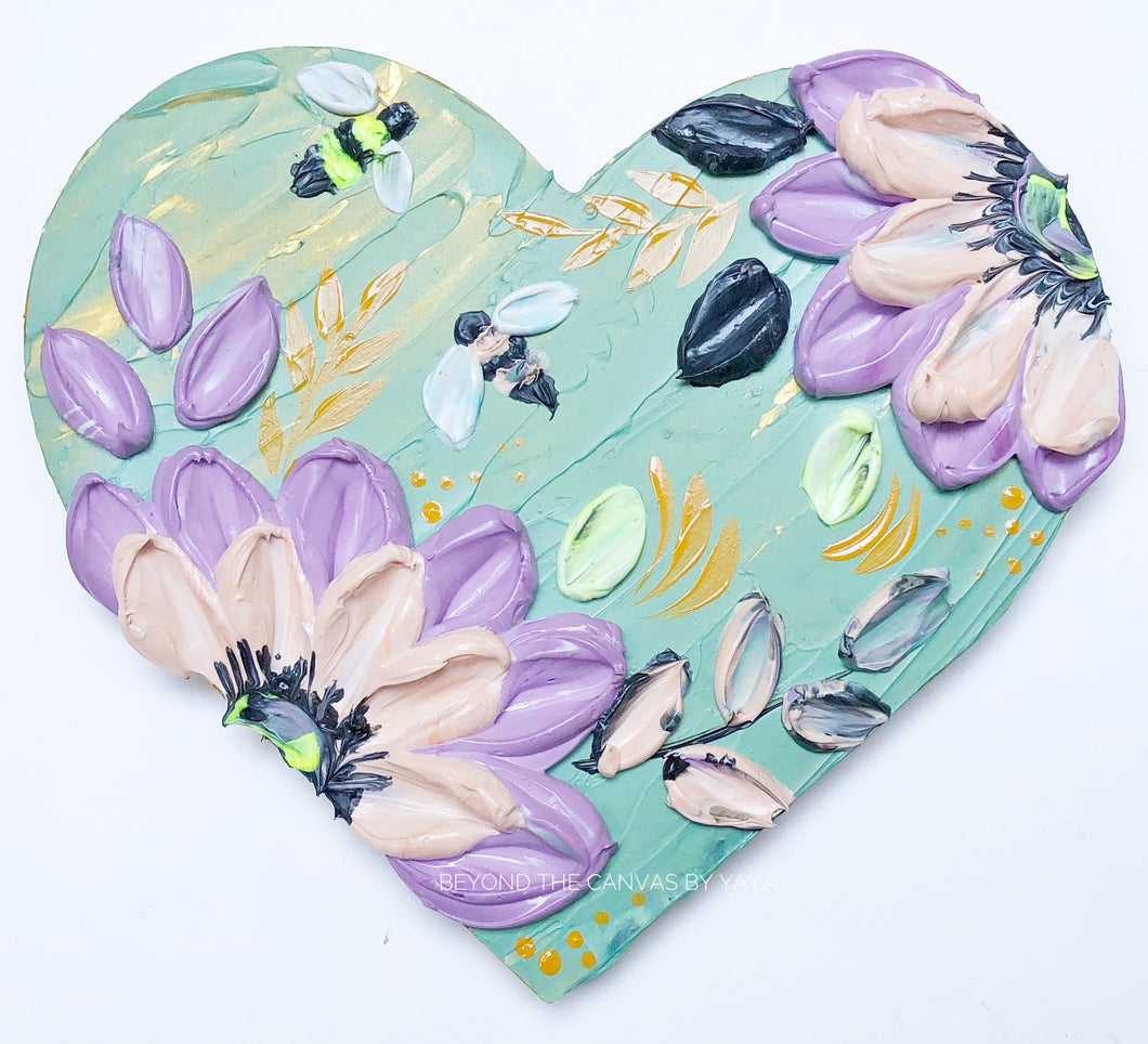 Pistachio Heart and Bees