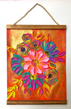 Mexican Florals (Free wood hanger frame)
