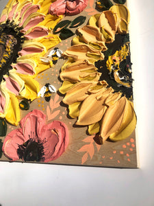 Wood and Sunflowers (100% wood)