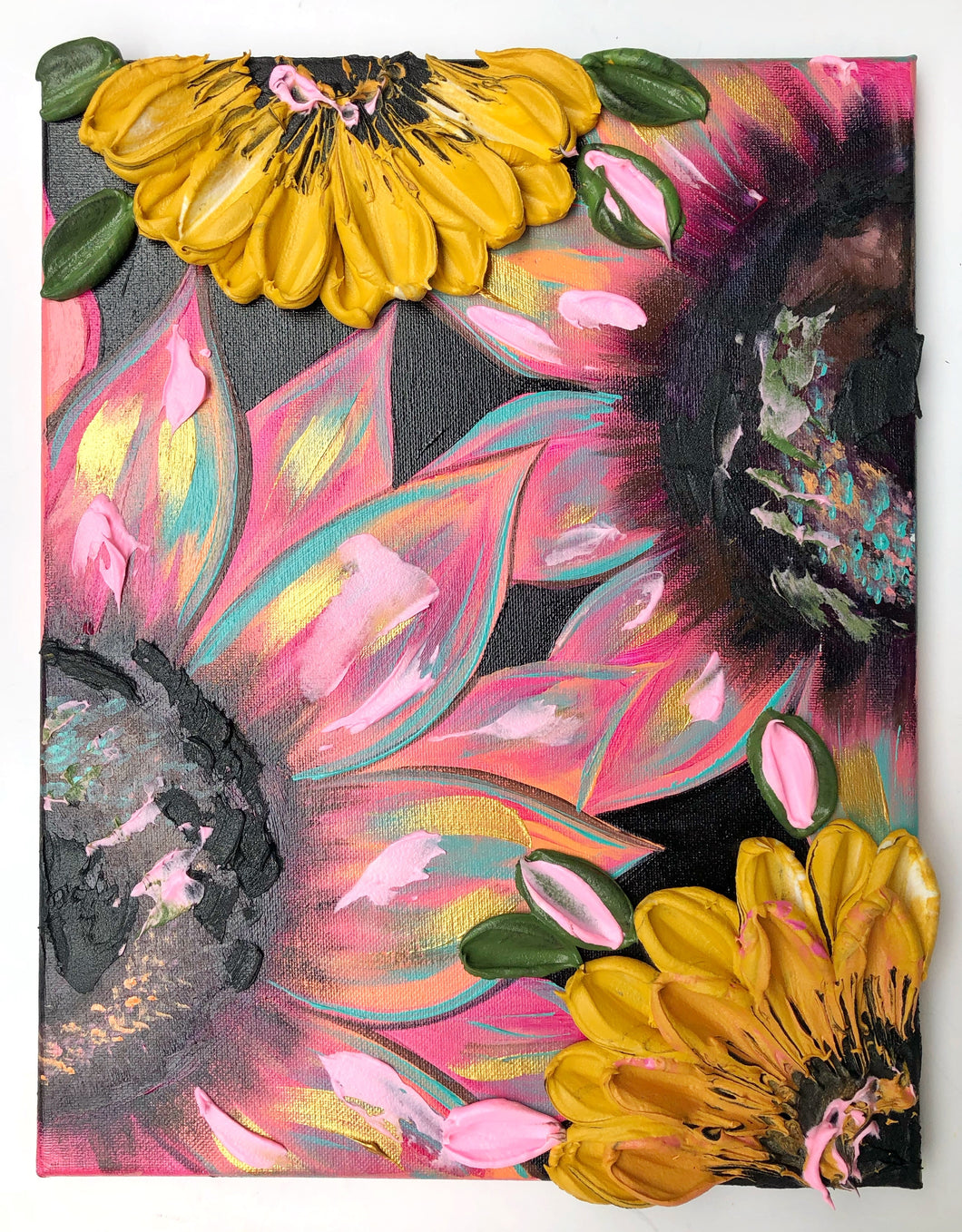 Pink and Yellow Sunflowers