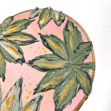 Cannabis and Blush Pink (antique embroidery hoop)