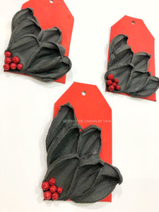 Red and Black Ornament/Tag