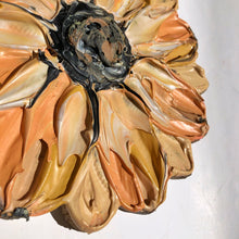 Single Textured Peach Flower (100% Wood)