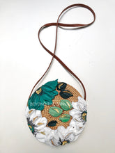 White with Teal Flower Purse