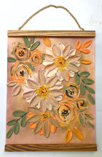 Pastel Orange and Neutrals (Free wood hanger frame)