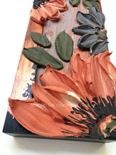 Black and Copper Warm Florals (Hang or Shelf Display)