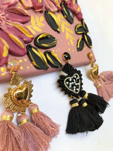 Blush Pink and Black with Tassels