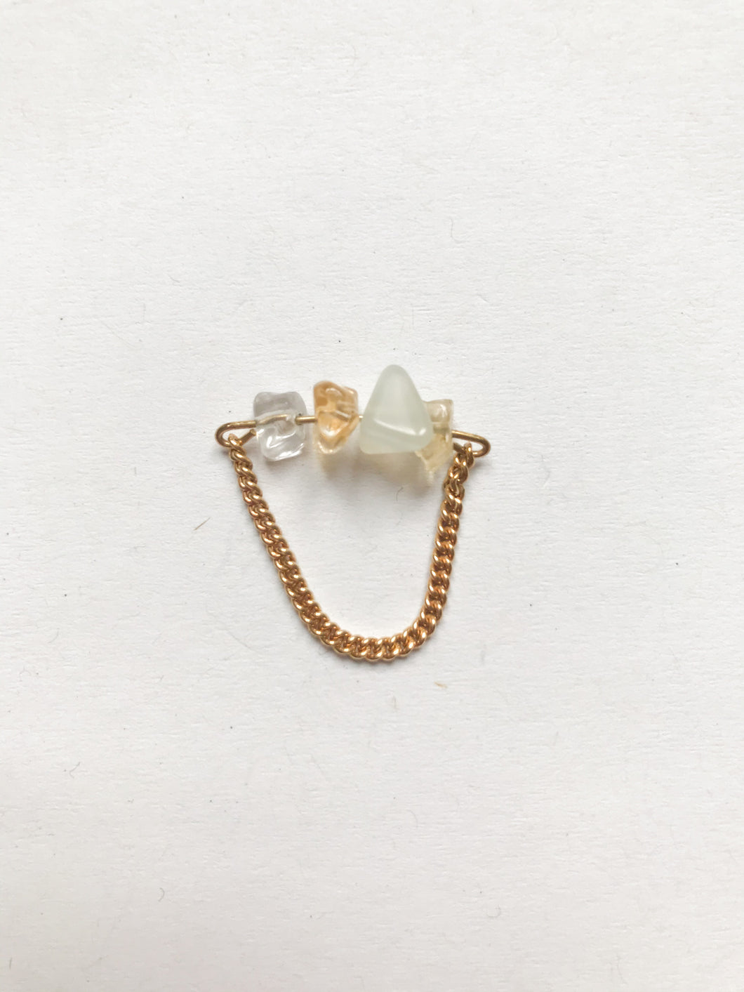 Multi Stone Chain Ring