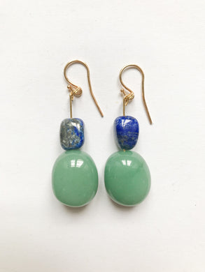 Lapis Chrysopras Earrings