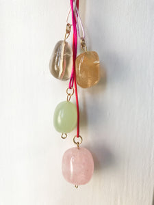 Stone Silk Necklace