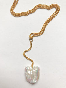 Long Keshi Pearl Necklace