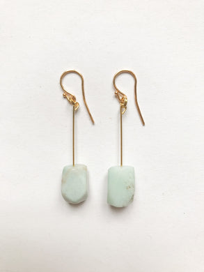 Serpentine Earrings in light green