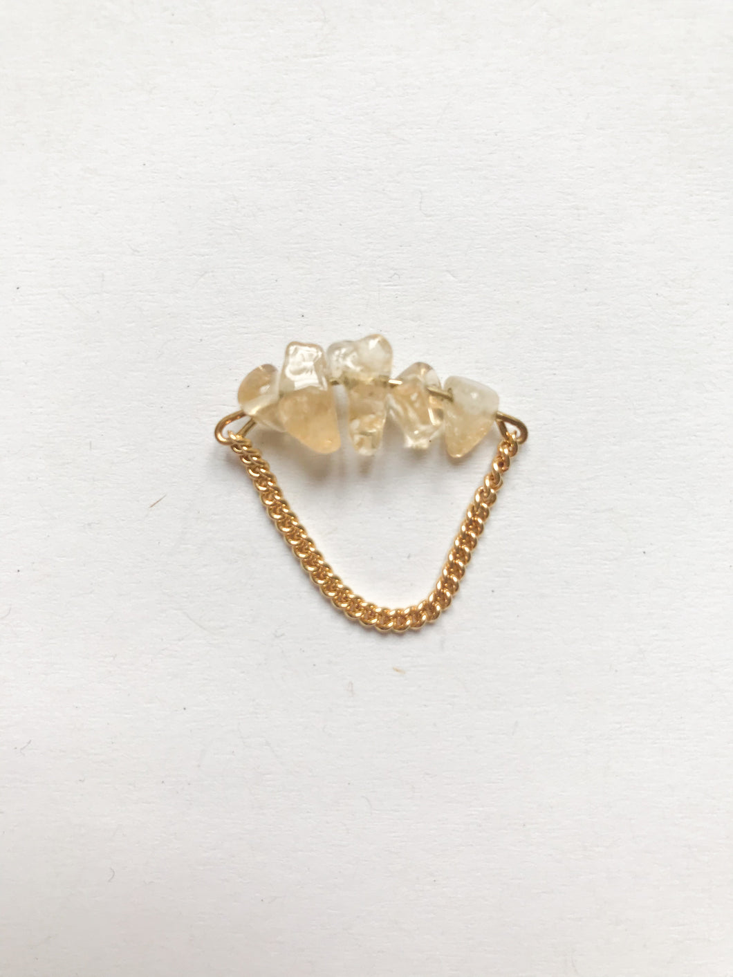 Citrine Chain Ring