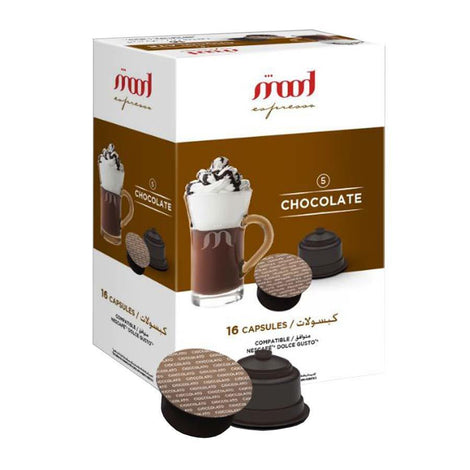 Dolce Gusto Compatible Coffee Capsules - Chocolate (16 Single Serve Pods) - Mood Espresso - Dubai