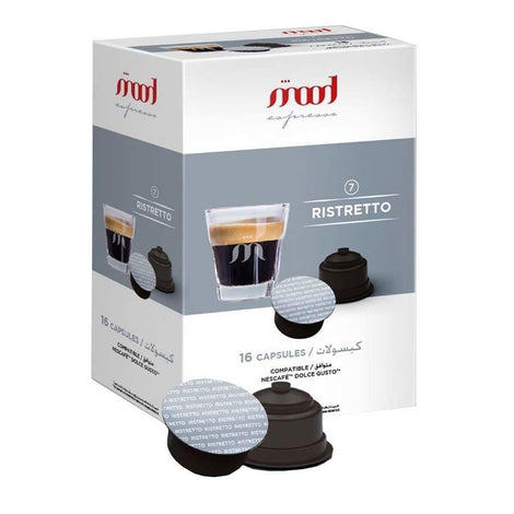 Dolce Gusto Compatible Coffee Capsules - Ristretto (16 Single Serve Pods) - Mood Espresso - Dubai