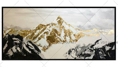 100% Hand Painted thick knife Oil Painting Canvas Landscape Painting Canvas Art Mountain Landscape Painting Abstract Art