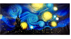 100% Hand Painted Van Gogh Starry Sky Art Painting On Canvas Wall Art Wall Adornment Pictures Painting For Live Room Home Decor