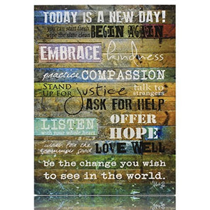 Creative Products Today is a New Day Wood Wall Art Print by Marla Rae 16 x 12: Gateway - SallyHomey Life's Beautiful