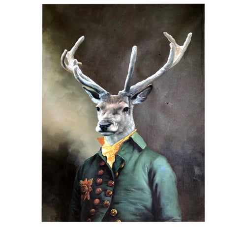 100% Hand Painted Personal Deer Head Art Painting On Canvas Wall Art Wall Adornment Pictures Painting For Living Room Home Decor
