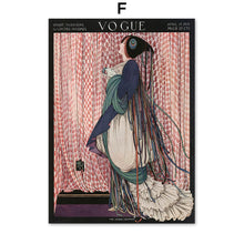 Load image into Gallery viewer, Abstract Vintage Vogue Girl Peacock Mirror Fashion Nordic Posters And Prints Canvas Painting Wall Pictures For Living Room Decor - SallyHomey Life's Beautiful
