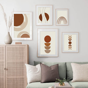 Abstract Geometric Shape Lines Vintage Wall Art Canvas Painting Nordic Posters And Prints Wall Pictures For Living Room Decor - SallyHomey Life's Beautiful