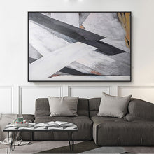 Load image into Gallery viewer, Abstract oil painting tableau black and white canvas painting custom on the wall handpainted bedroom cuadros decoracion salon - SallyHomey Life's Beautiful