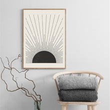 Load image into Gallery viewer, Abstract Canvas Painting Sun Illustration Posters And Prints Mid Century Modern Block Print Wall Picture For Living Room Decor - SallyHomey Life's Beautiful