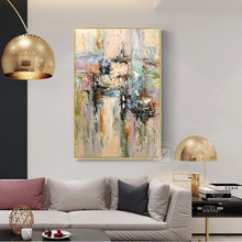 Load image into Gallery viewer, Original tableau peinture sur toile cuadros decorativos dormitorio vintage abstract art customized size canvas wall art decor - SallyHomey Life's Beautiful