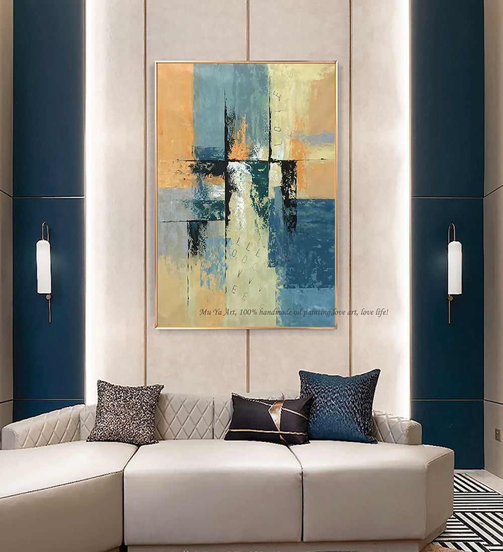 Oil painting original abstract art oil on canvas modern wall decor Abstract painting original for living room bedroom large - SallyHomey Life's Beautiful