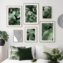 Load image into Gallery viewer, Green Monstera Banana Palm Leaf Wall Art Canvas Painting Nordic Posters And Prints Plants Wall Pictures For Living Room Decor - SallyHomey Life's Beautiful