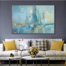 Load image into Gallery viewer, Abstract modern canvas wall art handmade contemporary famous artwork blue oil painting on canvas for livincag room decoration - SallyHomey Life's Beautiful