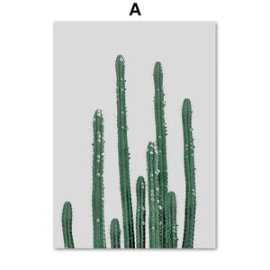 Fresh Cactus Mountain Leaf Terraced Field Wall Art Canvas Painting Nordic Posters And Prints Wall Pictures For Living Room Decor - SallyHomey Life's Beautiful