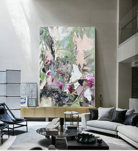 Oil painting original Abstract canvas art oil canvas palette knife hand painting cuadros decoracion lienzos large wall artwork - SallyHomey Life's Beautiful