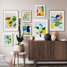 Load image into Gallery viewer, Colorful Abstract Monstera Leaves Wall Art Canvas Painting Nordic Posters And Prints Plants Wall Pictures For Living Room Decor - SallyHomey Life's Beautiful