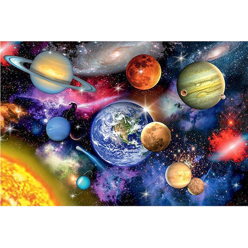 DIY 5D Diamond Painting Cross Stitch Full Round Drill Space Planet Mosaic Scenery Diamond Embroidery Rhinestones Home Decor Gift