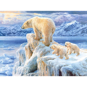 DIY 5D Diamond Painting Polar Bear Full Round Drill Diamond Embroidery Cross Stitch Mosaic Animal Picture Rhinestone Home Decor - SallyHomey Life's Beautiful
