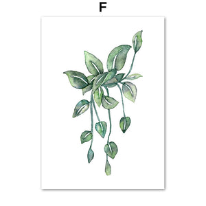 Monstera Cactus Leaves Tropical Plants Wall Art Canvas Painting Nordic Posters And Prints Wall Pictures For Living Room Decor - SallyHomey Life's Beautiful