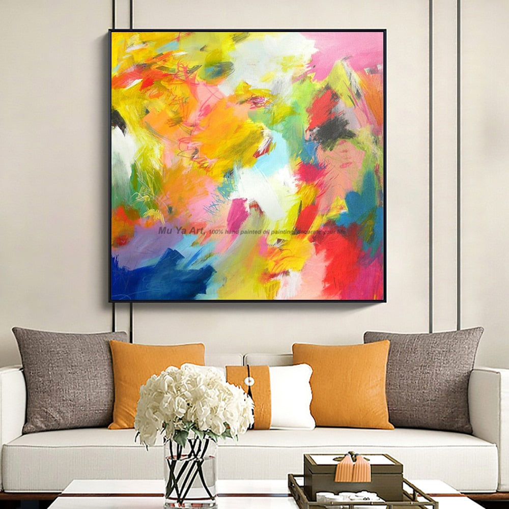 Artist supply Cheap modern painting abstract wall art canvas famous abstract paintings reproduction oil paintings on canvas - SallyHomey Life's Beautiful