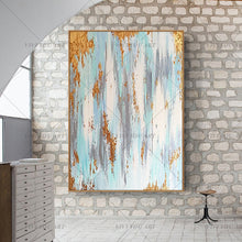 Load image into Gallery viewer, Bright luxury gold foil decorative oil painting handpainted abstract oil painting modern living room Bedroom Home Decor