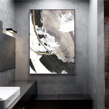 Load image into Gallery viewer, Handmade oil painting on canvas painting abstract wall art for living room black white large decorative pictures for bedroom - SallyHomey Life's Beautiful
