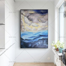 Load image into Gallery viewer, 100% Handmade Newest Abstract Landscape Oil Painting Modern Home