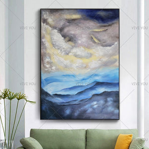 100% Handmade Newest Abstract Landscape Oil Painting Modern Home