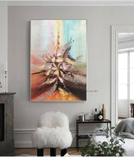Load image into Gallery viewer, Abstract painting original artwork art modern oil on canvas oil painting vintage wall pictures for living room handmade acrylic - SallyHomey Life's Beautiful