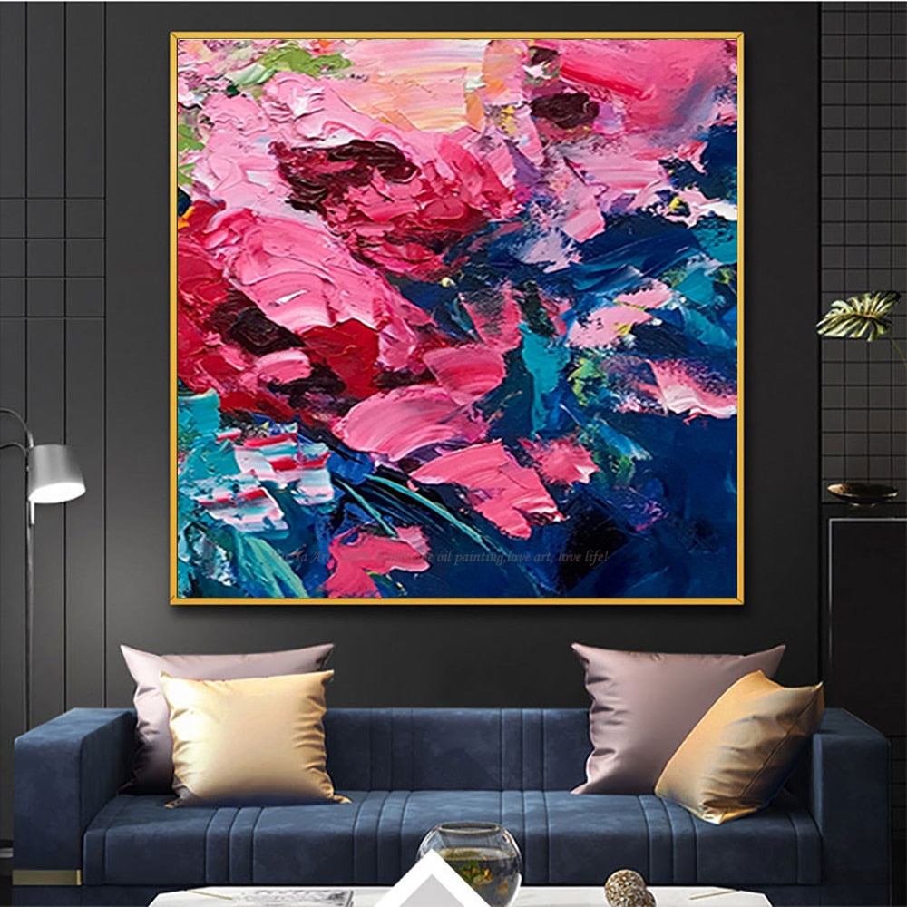 Hand painted cuadros decoracion salon tableau peinture sur toile abstract modern oil paintings for bedroom heavy oil textures - SallyHomey Life's Beautiful