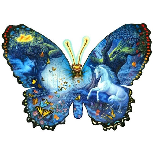 Butterfly Horse Animal DIY Full Round Drill 5D Diamond Painting Cross Stitch Mosaic Rhinestone Diamond Embroidery Home Decor - SallyHomey Life's Beautiful